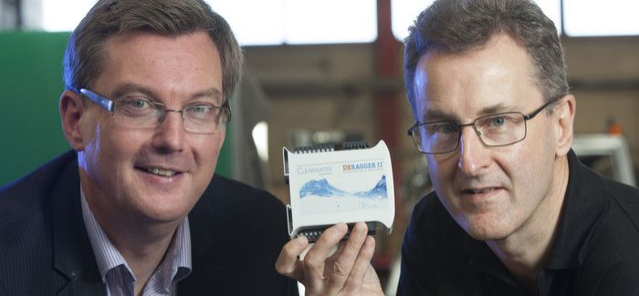 UKSE's Scott Webb (left) with Simon Crompton, of Clearwater