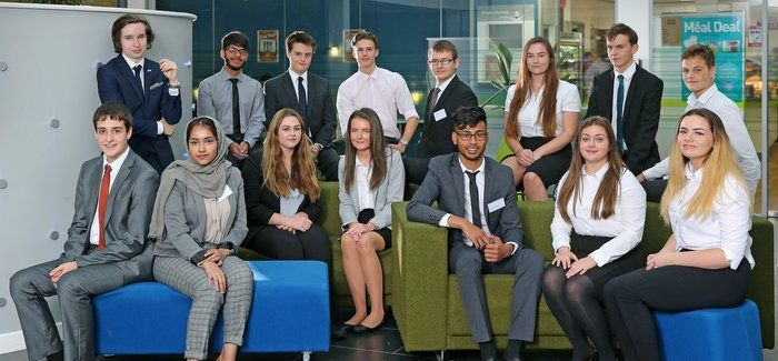 The sixth formers on Welsh Water's Youth Board