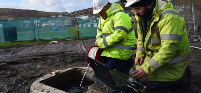 A feasibility study has found that water has filled the void of the old Caerau Colliery workings to a depth of 230m.