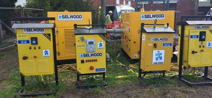 Selwood pumps being used in the Brent Knoll scheme