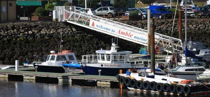 Amble Marina in Northumberland relies on its pumping station