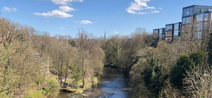 The River Kelvin in Kelvingrove Park, where the water in the river will be improved following completion of the project