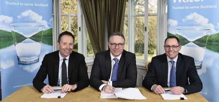 Paul Margetts (Capgemini), Rob Mustard (Scottish Water) and Gavin Thomson (Atos).