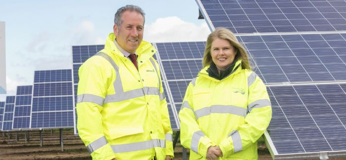 NI Water CEO Sara Venning with GRAHAM's Leo Martin