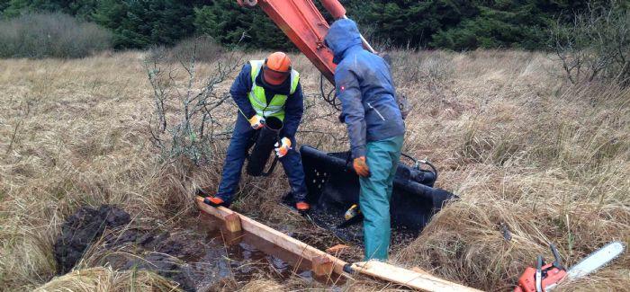 Mire restoration on Crowdy Marsh, Cornwall