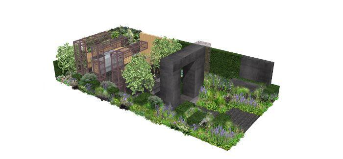 An artist's impression of the Urban Flow garden