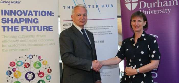 Professor Stuart Corbridge, vice-chancellor of Durham University, and Heidi Mottram, Northumbrian Water CEO