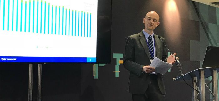 Ofwat's Jon Ashley addresses the Utility Week Live conference in Birmingham