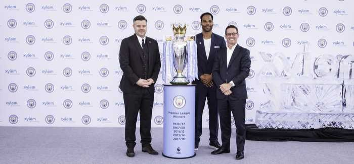 Damian Willoughby (Manchester City), Joleon Lescott and Patrick Decker (Xylem)