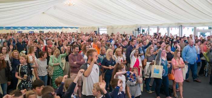 The festival attracted thousands of participants, including hundreds of local youngsters