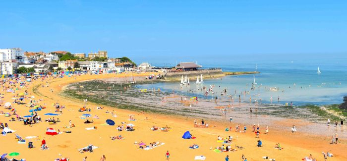 Viking Bay in Broadstairs was one of two areas in which the yellow fish symbols were painted