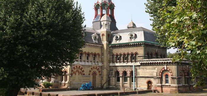 Abbey Mills pumping station was built by Sir Joseph Bazalgette between 1865 and 1868