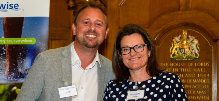 Water Plus CEO Andy Hughes pictured with Waterwise managing director Nicci Russell