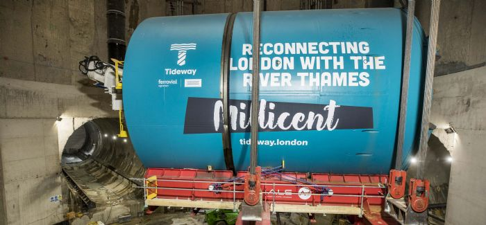 Millicent, one of two TBMs that will be used on Tideway, started the tunnelling on the project last month