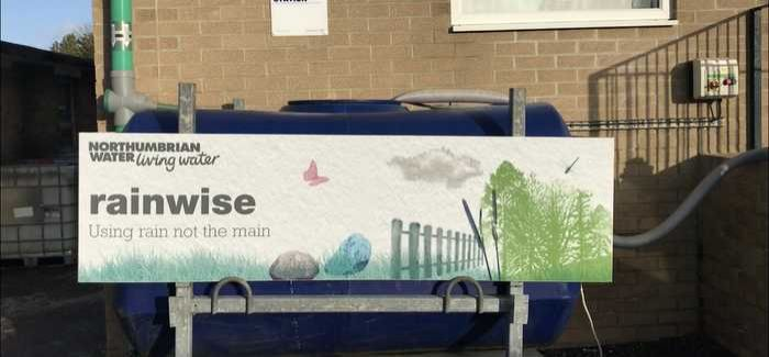 One of the rainwater harvesting tanks
