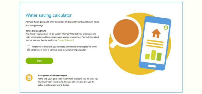 Thames Water launches interactive water calculator - WWT