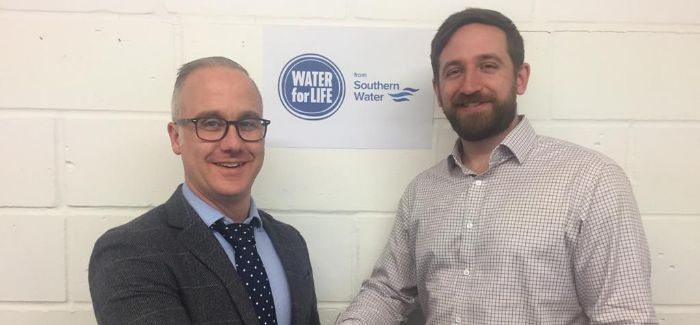 J Browne director of operations Barry Jones with Southern Water senior project manager Oliver Ryan