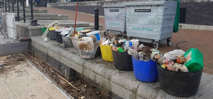 Litter cleared at the River Irwell in Salford