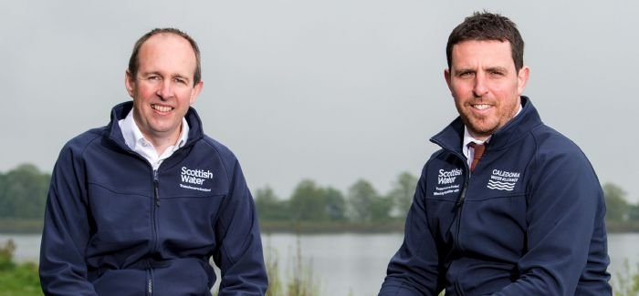 Scottish Water's Paul Sexton (left) with project manager Graham Waley (photo credit: SNS)