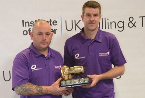 The winning team of Jason Barratt and Lee Maddock
