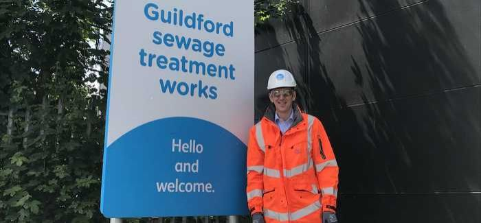 Steve Spencer at the treatment works at Guildford