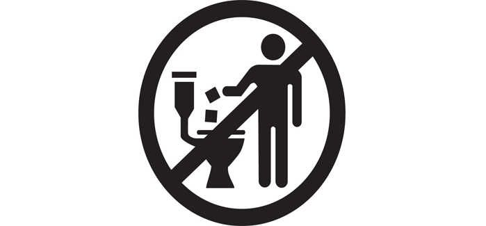 A universal 'Do Not Flush' symbol for products not meeting the Guidelines has also been introduced