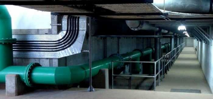 The filter pipe gallery on one of the new plants in Abuja