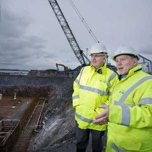 Minister visits NI Water's Bangor Sewerage Improvement Scheme