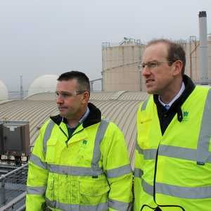 Minister visits Cardiff treatment works