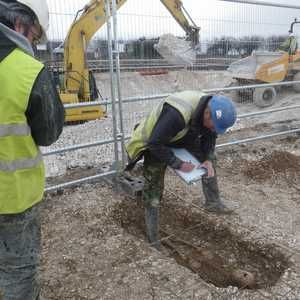 Iron Age skeleton found during Wessex Water main laying