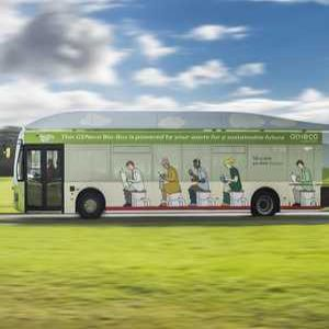 UK's first ever bus powered by human waste launched