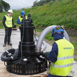 Tsurumi aerators combat warm weather at Dutch wastewater works