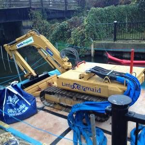Little Mermaid submersible digger scours Surrey river bed