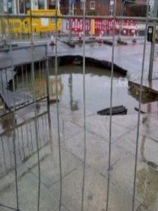 Sewer collapse in Southport causes hole in the road