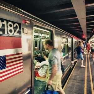 Burst water main floods New York subway
