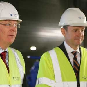 Duke pops in to see Southern Water's flagship treatment works