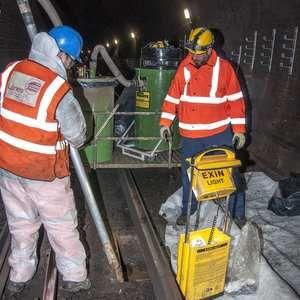 Lanes trials Big Brute to clean Underground drainage system