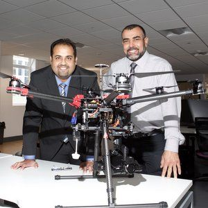Infrared drones detect underground water leaks