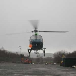Helicopter used for pipe repair project in Wales