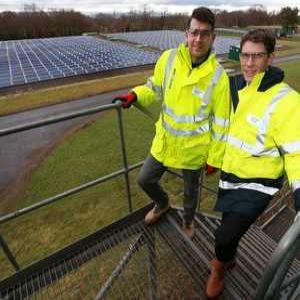 Edinburgh water works installs 1000 solar panels