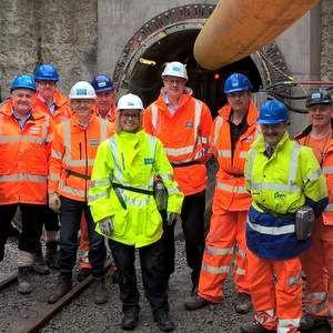 Severn Trent Water boss checks on progress of EVA scheme