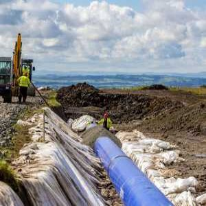 Scottish Water crosses peat bog and railway in pipeline project