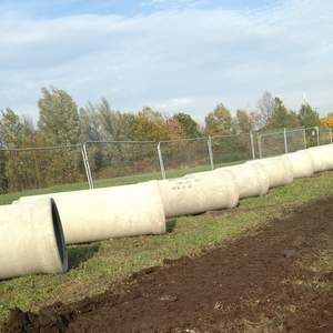 Concrete pipes installed in Pennington Pumping Station scheme