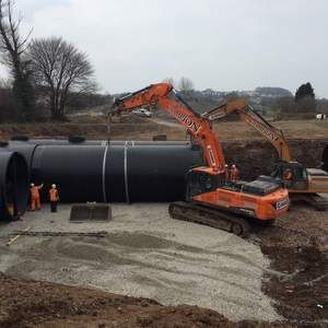 Asset supplies Weholite for new market town's sewerage system