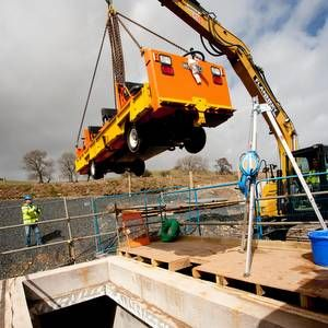 United Utilities tests airport vehicle for aqueduct inspection