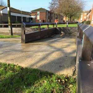 Plastic flood barriers provide 'ring of steel' in Lincolnshire