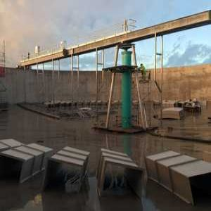 Scraper bridges take Lancashire WWTWs to new heights