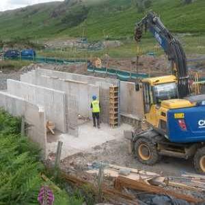 Lake District stream un-straightened in concrete project
