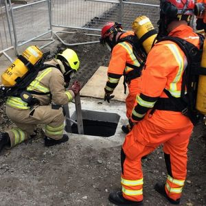 Fire service to the sewer rescue