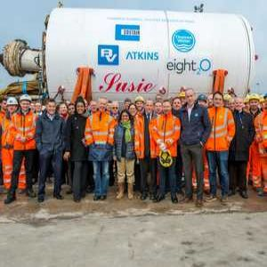TBM arrives at Beckton as Thames project progresses